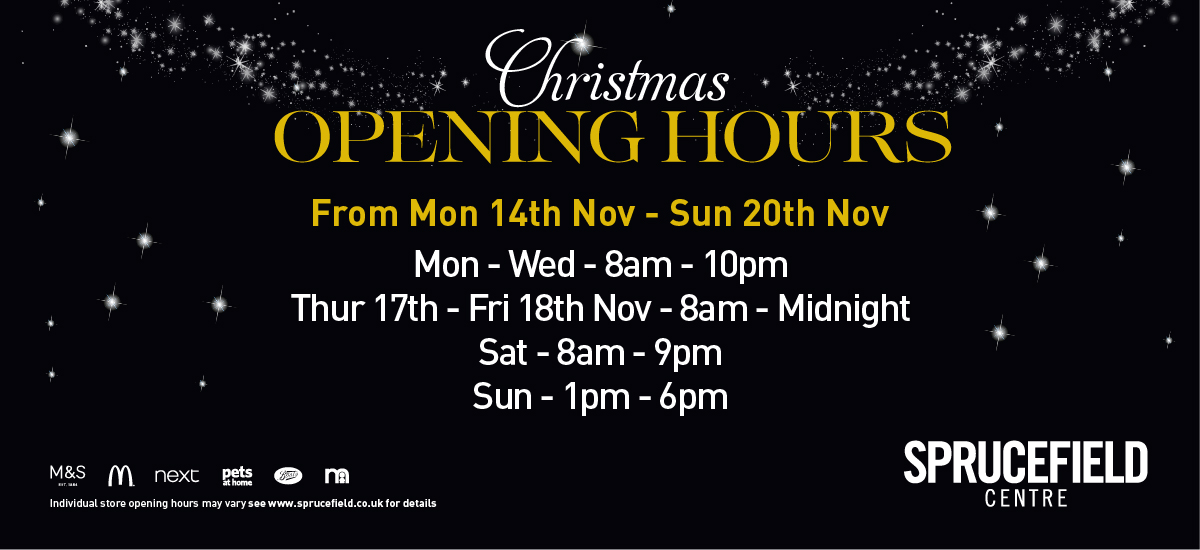 Sprucefield Christmas Opening Hours