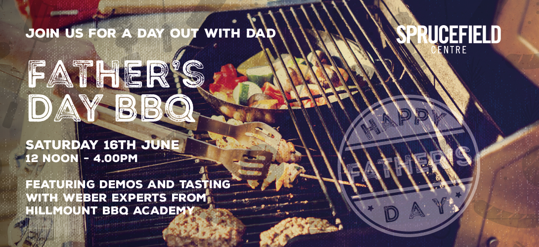 Enjoy a day out with Dad at our Father's Day BBQ - Saturday 16th June from 12noon - 4pm