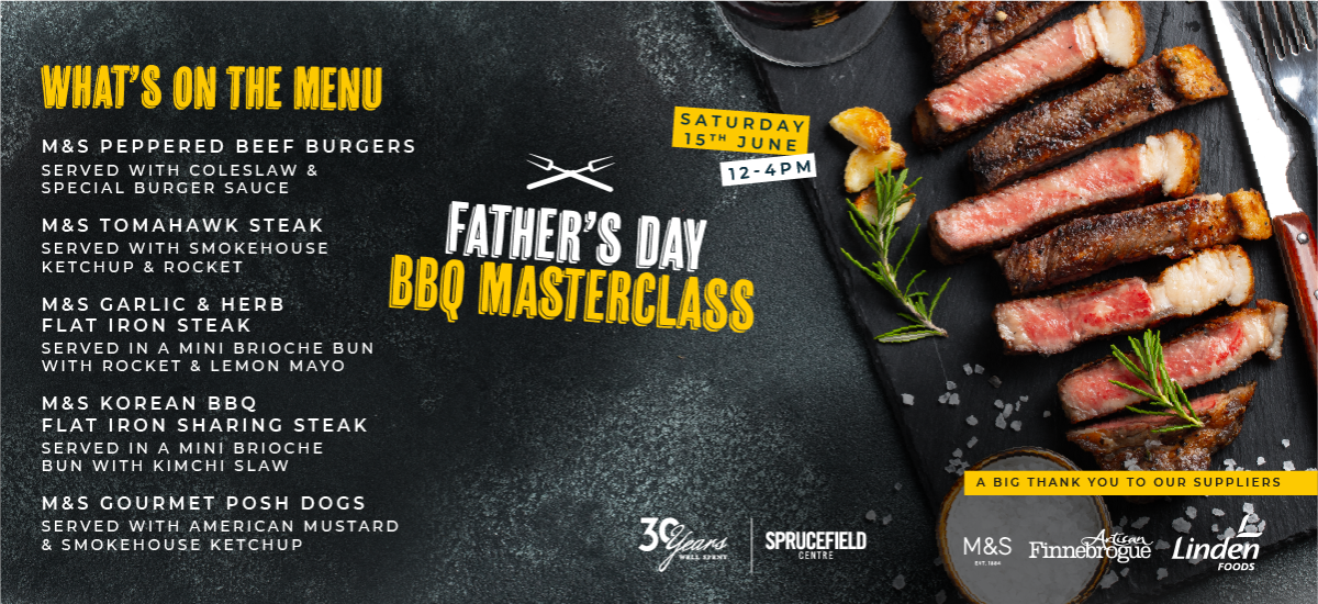 Join us for a Father's Day BBQ Masterclass - Saturday 15th June, 12 - 4pm
