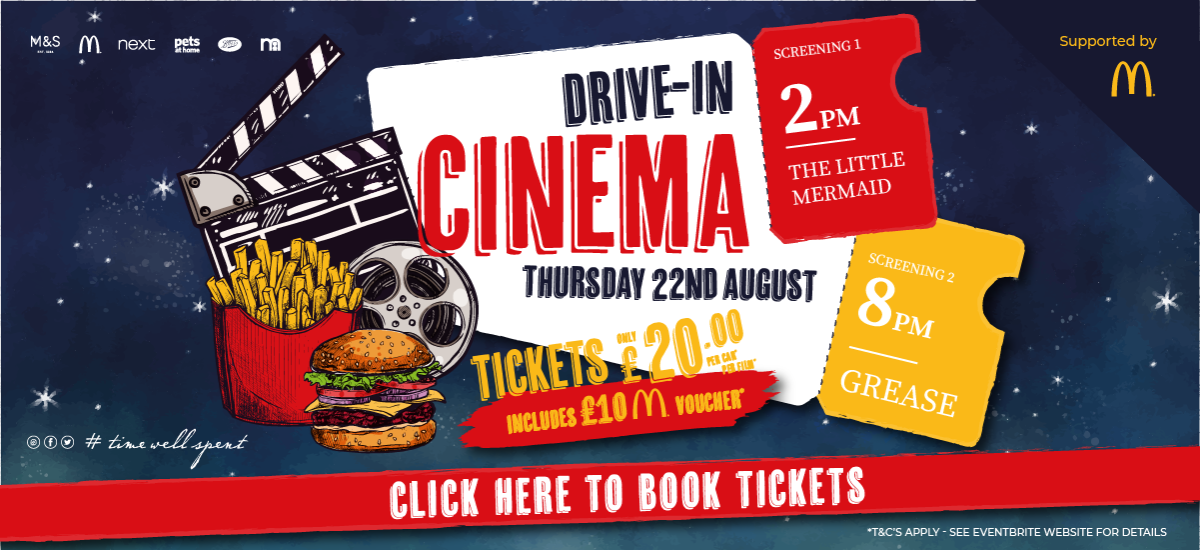 Sprucefield Drive In Cinema - Thursday 22nd August 2019 - For Info and to Book Your Tickets - Click Here