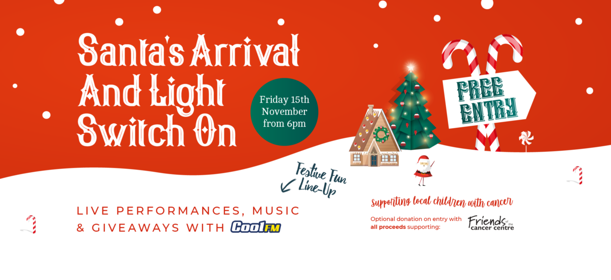 Santa's Arrival and Light Switch On Friday 15th November from 6pm